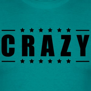 Cool text font logo design crazy crazy confused st T-Shirts - Men's T-Shirt