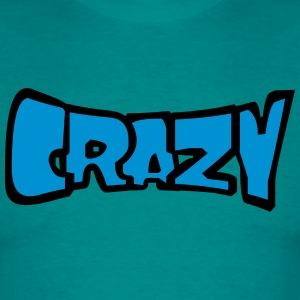 Comic cartoon text font logo design cool crazy cra T-Shirts - Men's T-Shirt