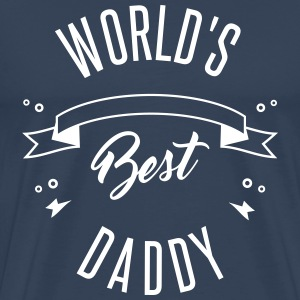 WORLD'S BEST DADDY - Herre premium T-shirt