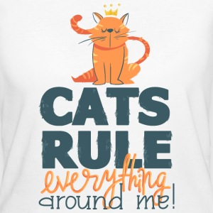 Cats rule everything around me Katze Regel zickig T-Shirts - Frauen Bio-T-Shirt