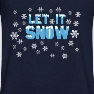 Let It Snow T-shirts - T-shirt med v-ringning herr