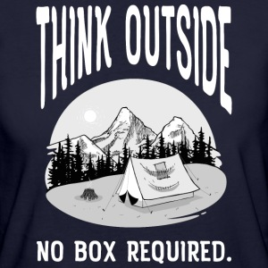 Think Outside - No Box Required T-skjorter - Økologisk T-skjorte for kvinner