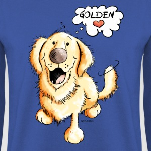 Golden Retriever on Tour Pullover & Hoodies - Männer Pullover