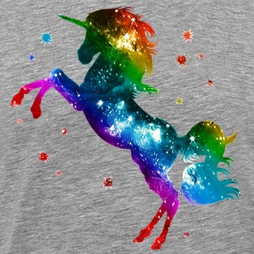 Einhorn, Regenbogen, Sterne, unicorn, rainbow