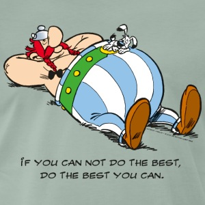 Asterix & Obelix - If You Can Not Do Best - Herre premium T-shirt