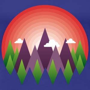 geometric mountain sunrise Tee shirts - T-shirt Premium Femme