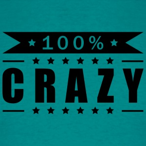 100 hundred percent text font logo design cool cra T-Shirts - Men's T-Shirt