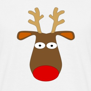 Christmas Reindeer White T-Shirt - Men's T-Shirt