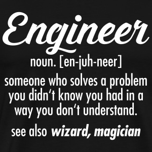 Geek | Engineer - Definition T-shirts - Premium-T-shirt herr