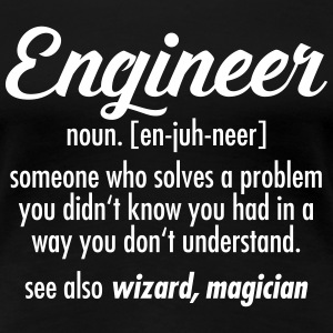 Geek | Engineer - Definition T-shirts - Vrouwen Premium T-shirt