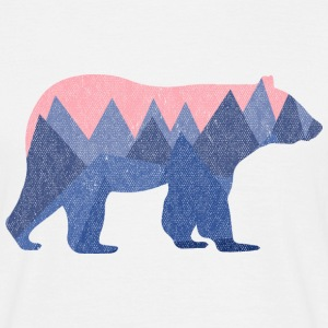 Blanc mountain bear Tee shirts - T-shirt Homme