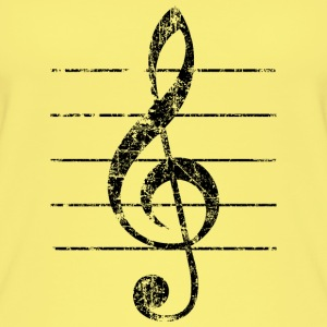 Violin key, musical key Tops - Women's Organic Tank Top