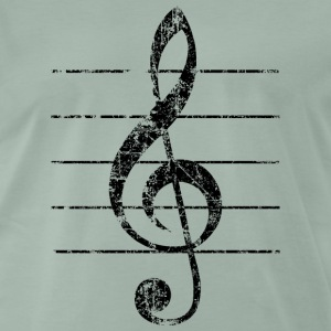 Treble Clef, Clef Tee shirts - T-shirt Premium Homme