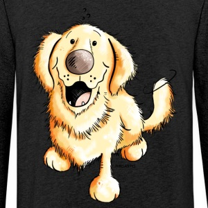 Glad Golden Retriever Gensere - Lett unisex hette-sweatshirt
