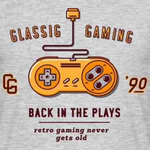 Gris chiné classic gaming Tee shirts - T-shirt Homme