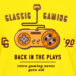 back in the plays / snes - Männer Kontrast-T-Shirt