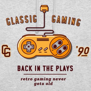Gris chiné classic gaming Sweat-shirts - Sweat-shirt à capuche unisexe