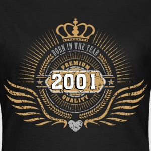 born_in_2001_crown04 T-Shirts - Frauen T-Shirt