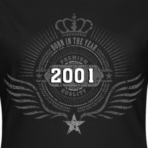 born_in_2001_crown06 T-Shirts - Frauen T-Shirt