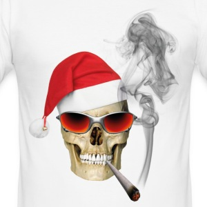 CHRISTMAS SKULL T-Shirts - Männer Slim Fit T-Shirt