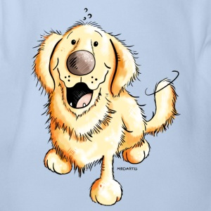Glad Golden Retriever Babybody - Økologisk kortermet baby-body
