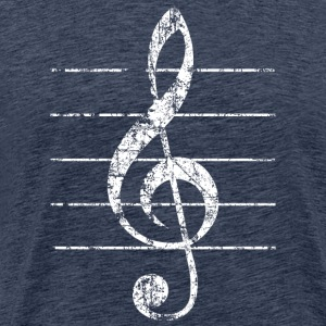 Violin key, musical key T-Shirts - Men's Premium T-Shirt