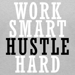 Work Smart Hustle Hard T-Shirts - Frauen T-Shirt mit V-Ausschnitt