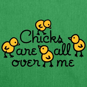 Chicks are all over me Tassen & rugzakken - Schoudertas van gerecycled materiaal