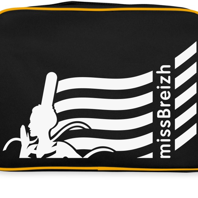 sac sport missBreizh avec flex blanc paillettes Recto verso