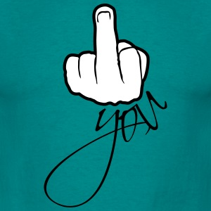In show gloves stinkfinger middle finger symbol fu T-Shirts - Men's T-Shirt