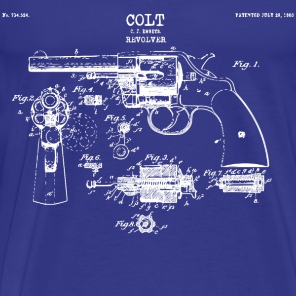 revolver vintage drawing T-Shirts - Men's Premium T-Shirt