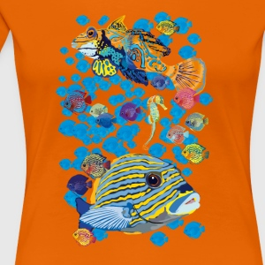 Fish_01 T-Shirts - Frauen Premium T-Shirt