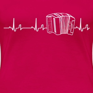 Heartbeat - Akkordeon Shirt Damen - Frauen Premium T-Shirt