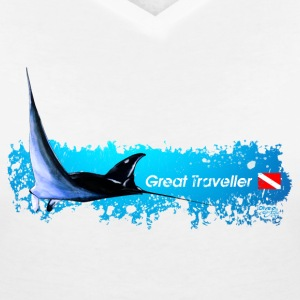 Manta - the great Travell T-Shirts - Frauen T-Shirt mit V-Ausschnitt