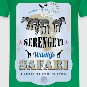 Zebras Wildlife Safari Kenya Africa Adventure - Kinder Premium T-Shirt