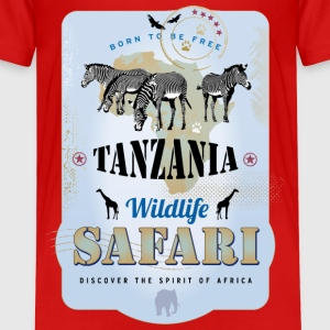 Zebras Wildlife Safari Tanzania Africa Adventure - Kinder Premium T-Shirt