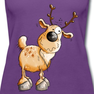 Cute Reindeer Tops - Women's Premium Tank Top