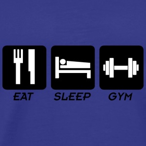 EAT SLEEP GYM T-skjorter - Premium T-skjorte for menn