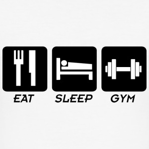 EAT SLEEP GYM T-Shirts - Men's Slim Fit T-Shirt