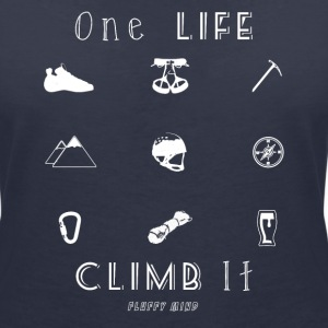 One life, Climb it - T-shirt col V Femme