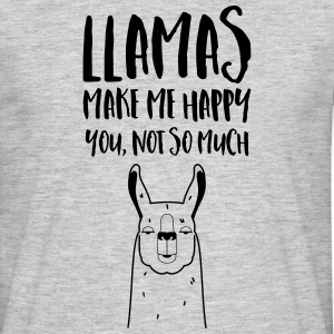 Llamas Make Me Happy - You Not So Much T-skjorter - T-skjorte for menn