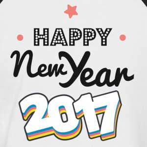 happy new year  2017 coul Tee shirts - T-shirt baseball manches courtes Homme