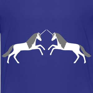 Unicorn males 2 vector Shirts - Teenage Premium T-Shirt