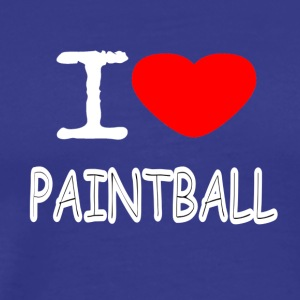 I LOVE PAINTBALL - Männer Premium T-Shirt