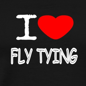I LOVE FLY TYING - Männer Premium T-Shirt