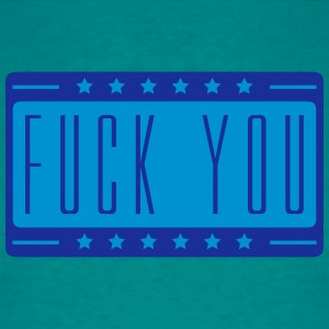 Star script fuck you off text logo design cool ins T-Shirts - Men's T-Shirt