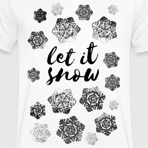 AD Let It Snow T-Shirts - Men's V-Neck T-Shirt