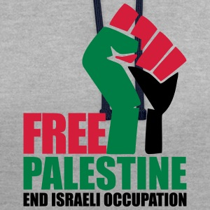 Free Palestine End Israeli Occupation Hoodies & Sweatshirts - Contrast Colour Hoodie