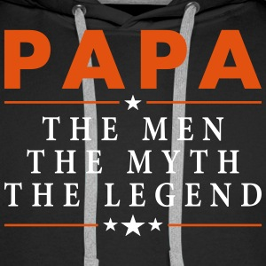 PAPA THE LEGEND Hoodies & Sweatshirts - Men's Premium Hoodie