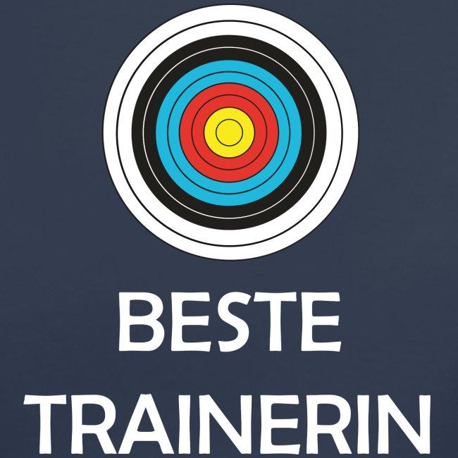 Frauen T-Shirt mit V-Ausschnitt - Beste Trainerin